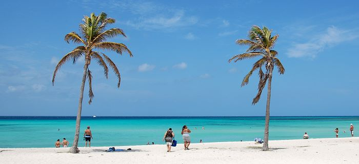Stunning White Sand Beach of Arashi in Aruba