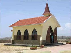 View of the Alto Vista Chapel in Aruba