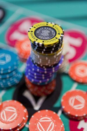 Stack of Chips at the Hyatt Regency Casino Aruba