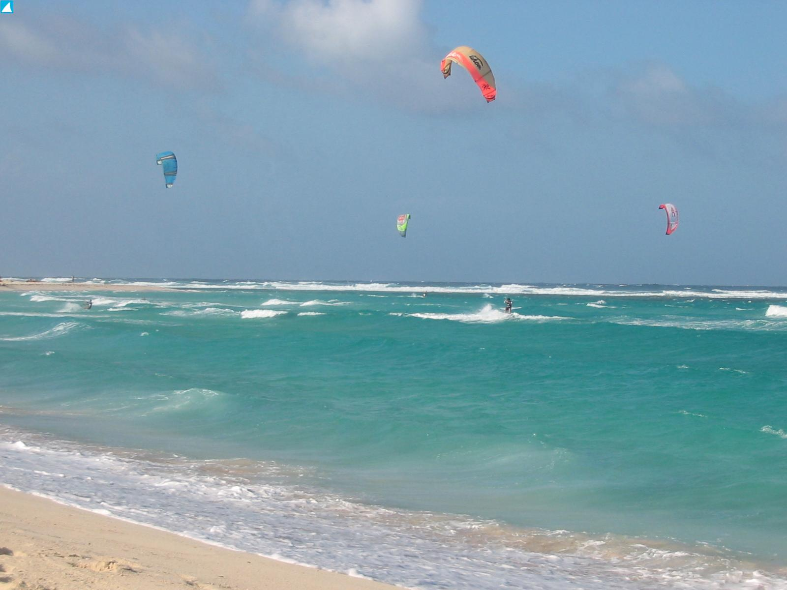 Kite Surfing at Andicuri Beach Aruba